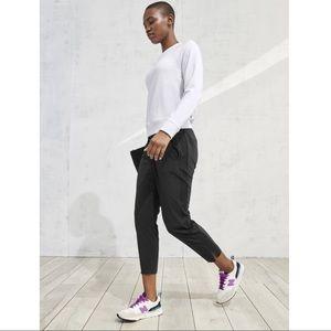 Athleta Black Mid-Rise Tapered Brooklyn Ankle Pant